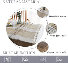 Load image into Gallery viewer, (D591) Rayzi Tablecloth, Rectangle Linen Cotton Wrinkle Free Anti-Fading Tablecloths,Washable Embroidery Dust-Proof Table Cover