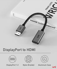 Load image into Gallery viewer, (V692)DisplayPort to HDMI Adapter, uni DP to HDMI Adapter (4K UHD ) Uni-Directional Display Port to HDMI Converter Compatible