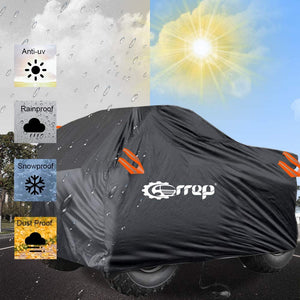 (T281)Waterproof ATV Cover - ATV Quad Windproof Covers ATC Rain Cover UV Protects 4 Wheeler for Polaris Sportsman Outlaw Yamaha Grizzly Wolverine YFZ Honda