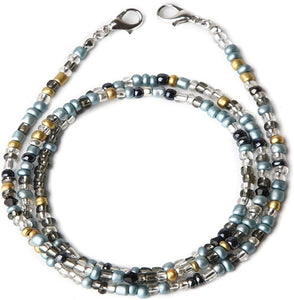 (T997)Face Mas-k Holder Beaded Necklace Strap, Face Cover Lanyards Chains for Women