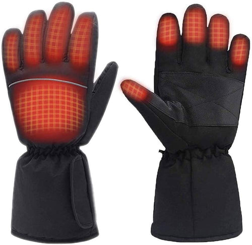 (Q284)Moliter Heated Gloves, Battery Powered Electric Heat Gloves for Women and Men, Waterproof Winter Thermal Gloves, Warm Touchscreen Gloves