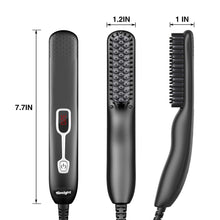 Load image into Gallery viewer, (R571)MANNVLO Beard Straightener for Men, Beard Straightening Comb, Heated Hair Straightener Brush for Men and Women, Beard Brush Straightener