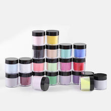 Load image into Gallery viewer, (T022)24 Colors Acrylic Powders Set, Popular Nail Art Colors Nail Powder 24pcs, DIY Starter Kit Nail Extension Powders