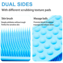 Load image into Gallery viewer, (H621)Silicone Back Scrubber for Shower, 35.4inches(90cm) Lengthen Bath Body Brush, Handle Body Washer and Exfoliating Texture Body Back Scrubber