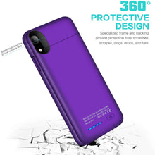 Load image into Gallery viewer, (W252)TAYUZH Battery Case for iPhone XR, 4000mAh Ultra-Slim Protective Portable Charging Case Compatible for iPhone XR Magnetic Battery Case Rechargeable Charger Case