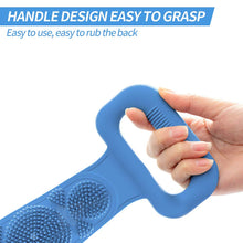 Load image into Gallery viewer, (T542)Silicone Back Scrubber for Shower,Deep Clean and Exfoliating Lengthen Silicone Body Back Brush,Easy to Clean,Improves Blood Circulation and Skin Health
