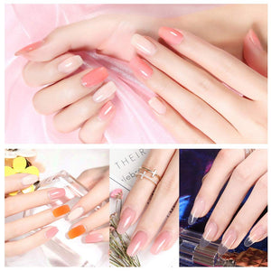 (H625)Acrylic Nail Tips 500pcs Fake Nails Tip Half Cover 10 Size Artificial Flase Nail Kit