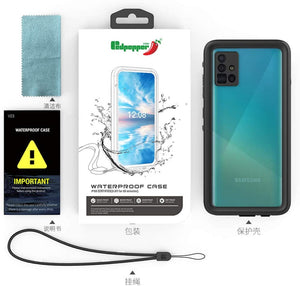 (K083)LANYOS Compatible Samsung Galaxy A51 4G/5G Waterproof Case, Full Body with Built in Screen Protector IP68 Underwater Rugged Heavy Duty Clear Back Protective Cover