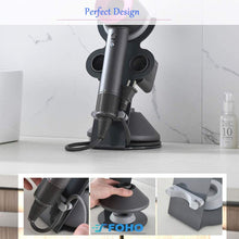 Load image into Gallery viewer, (R041)Foho Hair Dryer Holder for Dyson Supersonic, Magnetic Stand Holder with Power Plug Cable Organizer, Aluminum Alloy Bracket