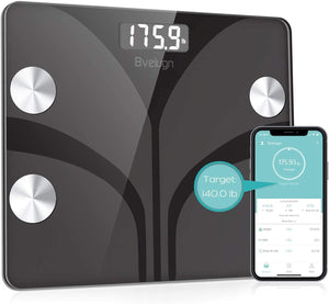 (E424) Body Fat Scale, Smart Wireless Digital Bathroom BMI Weight Scale, Body Composition Analyzer Health Monitor