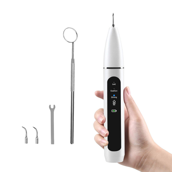 (H091)Ultrasonic Tooth Cleaner Electric Plaque Tartar Dental Calculus Remover for Teeth Dental Cleaning Kit Tools
