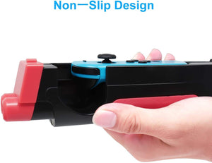 (W297)N-Switch Joy Con Comfort Grips Controller Holder, Kerou Switch Game Accessories Handheld Joystick Remote Control- Black