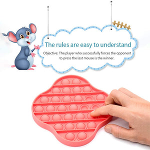 (V317)XMY Pop It Bubble Sensory Toy [Food Grade Silicone] Pop It Game Educational STEM Playing Board Stress Reliever Squeeze Sensory Toy