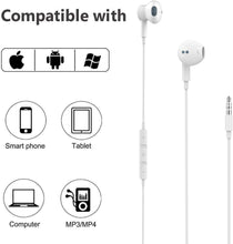 Load image into Gallery viewer, (V340)Aux Headphones,3.5mm Earphones Magnetic in-Ear Stereo Earbuds, with Microphone Noise Isolating Compatible