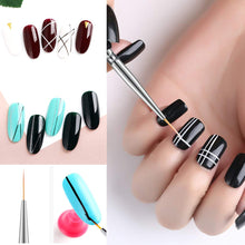 Load image into Gallery viewer, (Q432)8Pcs Nail Art Brushes Kit, 3Pcs Thin Liner Brushes Acrylic Nail Brush Pens 5Pcs Painting Flower Polygel Brush Manicure DIY Design Nail Art Salon