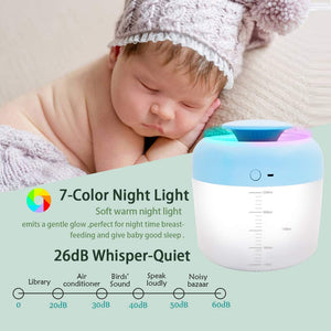 (F154)PBOX Cool Mist Humidifier,2.5L Humidifiers for Bedroom USB Charge Air Humidifier with Essential Oils Diffuser Function 40 Hours of Moisturized Air