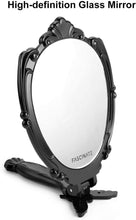 Load image into Gallery viewer, (K430)VWMYQ Folding Hand Mirror with Handle, Travel Makeup Mirror, Small Handheld Mirror, Plastic Hand Held Mirror, Cute Desk Mirror