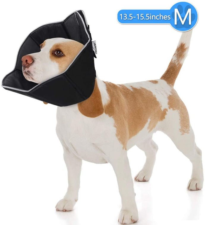 (R800)FOCUSPET Dog Cone Collar for Surgery, Pet Recovery Collar for After Surgery, Dogs & Cats Soft Recovery Collar Protective Collar for Large Dogs Wound Healing