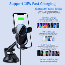 Load image into Gallery viewer, (W099)[2021 Upgraded] Miracase Wireless Car Charger, 15W Qi Fast Charging Auto Clamping, Car Phone Holder Mount Charger