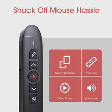 Load image into Gallery viewer, (Y343)VicTsing Wireless Presenter Remote, 2.4GHz USB Presentation Clicker Laser Pointer for Windows/Mac/Linux/Android