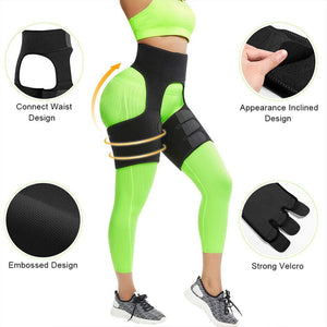 (Q704)4-in-1 Waist Arm and Thigh Trimmer for Women Weight Loss Butt Lifter Waist Trainer Belt Hip Raise Shaper for Women Thigh Trimmers
