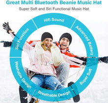 Load image into Gallery viewer, (T915)Bluetooth Beanie Gift for Men and Women, Upgraded Bluetooth 5.0 Music Hat, Wireless Headphone Built-in HD Stereo Speakers with Rechargeable USB
