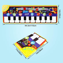 Load image into Gallery viewer, (K482)M SANMERSEN Piano Mat for Kids 43.3'' X14.2'' Electronic Dance Mat Music Piano Carpet Early Education Toys for Toddlers Boys Girls