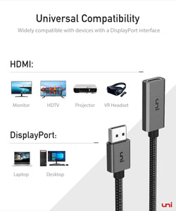 (V692)DisplayPort to HDMI Adapter, uni DP to HDMI Adapter (4K UHD ) Uni-Directional Display Port to HDMI Converter Compatible