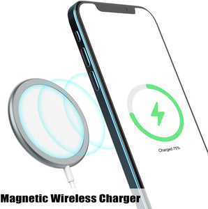 (S712)15W Magnetic Fast Wireless Charger, Fast Magnet Charging Pad Compatible with iPhone 12/12 Mini/12 Pro/12 Pro Max...