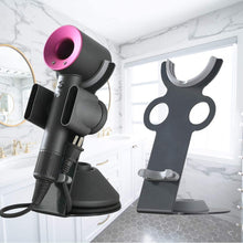 Load image into Gallery viewer, (R049)Foho Hair Dryer Holder for Dyson Supersonic, Magnetic Stand Holder with Power Plug Cable Organizer, Aluminum Alloy Bracket, Bathroom Organizer
