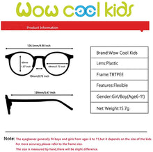 Load image into Gallery viewer, (T520)Kids Round Glasses Eyewear Safe Frame for Teens Flexible Cute with Clear Lens for Boys Girls(Age 5-12)