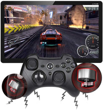 Load image into Gallery viewer, (Q824)Wireless Game Controller, TOGETOP ESM-9101 2.4G Wireless Gamepad, Dual Vibration, Turbo for PS3 / Android Phone or Tablet/PC/TV or TV Box