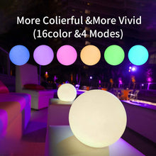 "Load image into Gallery viewer, (K460)LED Pool Lights,6"" Floating Pool Lights 16 RGB Color Changing & Dimming Rechargeable Float or Hang in Pool Garden Backyard Pond Party Decorations"