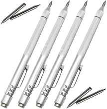 Load image into Gallery viewer, (T797)NEPAK 4 Pack Tungsten Carbide Scriber with Magnet,with Extra 4 Replacement Marking Tip,Etching Engraving Pen