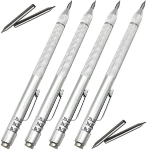 (T797)NEPAK 4 Pack Tungsten Carbide Scriber with Magnet,with Extra 4 Replacement Marking Tip,Etching Engraving Pen