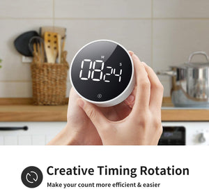 (R735)VOCOO Digital Kitchen Timer - Magnetic Countdown Countup Timer with Large LED Display Volume Adjustable, Easy to Use for Cooking Kids and Seniors
