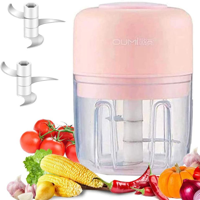 (R992) Electric Mini Garlic Chopper Garlic Cutter Garlic Masher,Garlic Press Mincer Pepper Chili Vegetable Nuts Meat Grinder