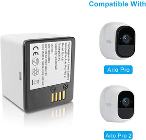 (C033)Battery for Arlo Pro,Arlo Pro 2 | (VMA4400), WEGWANG Rechargeable Batteries 2440mAh Lithium Ion Battery Suitable