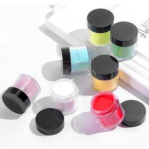 (T022)24 Colors Acrylic Powders Set, Popular Nail Art Colors Nail Powder 24pcs, DIY Starter Kit Nail Extension Powders