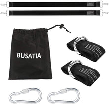 Load image into Gallery viewer, (T040)BUSATIA Tree Swing Straps (Set of 2), Tree Hanging Kits 5ft Length with 2 Heavy Duty Safety Lock Carabiner Hooks, Polyester Straps Perfect