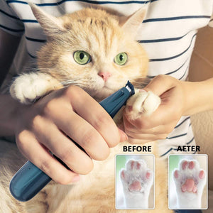 (W990)BASEIN Pet Foot Hair Clippers with Led Light, Professional Pet Hair Trimmers, Pet Grooming Kit, Low Noise, USB Rechargeable, Electric Clippers