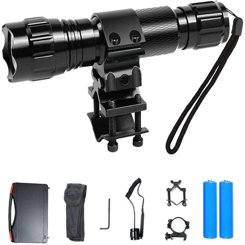 (D097) Tactical Flashlight 1200 Lumens,Led Flashlight with Picatinny Rail Mount