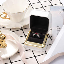 Load image into Gallery viewer, (H202)LED Jewelry Gift Box Ring Box Case Square Velvet Ring Container