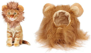(R824)LAWOHO Pet Halloween Costume, Lion Mane Hat for Kittens Puppy Dogs Halloween Christmas Easter