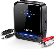 Load image into Gallery viewer, (S815)ELEGIANT Bluetooth 5.0 Transmitter Receiver Wireless Audio Adapter Pair 2 Headphones at Once Built-in Microphone LED Indicator