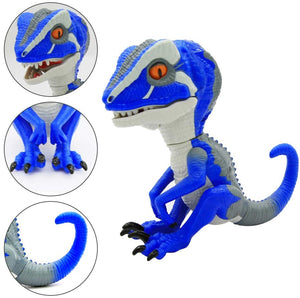 (Q833)Snader-Untamed T-Rex - Ironjaw (Blue) - Interactive Collectible Dinosaur fingerlings for Boys (Blue)