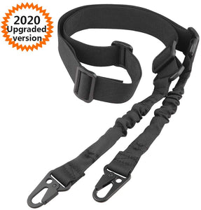 (F059)JTENG 2 Point Sling and Traditional Strap Adjustable Strap with Metal Hooks for Outdoor Sports