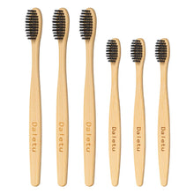 Load image into Gallery viewer, (W495)Daletu Bamboo Toothbrush, 6PCS Toothbrushes Set for Baby Kids and Adult Family Pack Wooden Toothbrush Medium Soft Bristles Tooth Brush Portable Travel