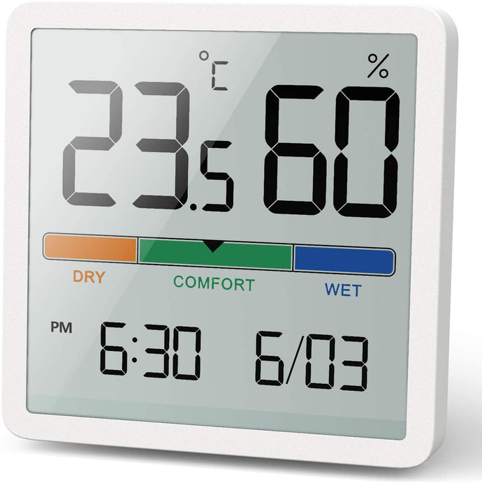 (H333)NOKLEAD Hygrometer Indoor Thermometer, Desktop Digital Thermometer with Temperature and Humidity Monitor