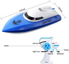 Load image into Gallery viewer, (A943)Remote Control Boat for Pools and Lakes,Comdigio 20+ mph High Speed RC Boat with 2 Rechargeable Battery, 2.4 GHz Outdoor Adventure Electric Racing Boats
